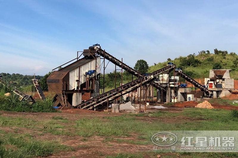 江苏客户花岗岩制砂生产线图片
