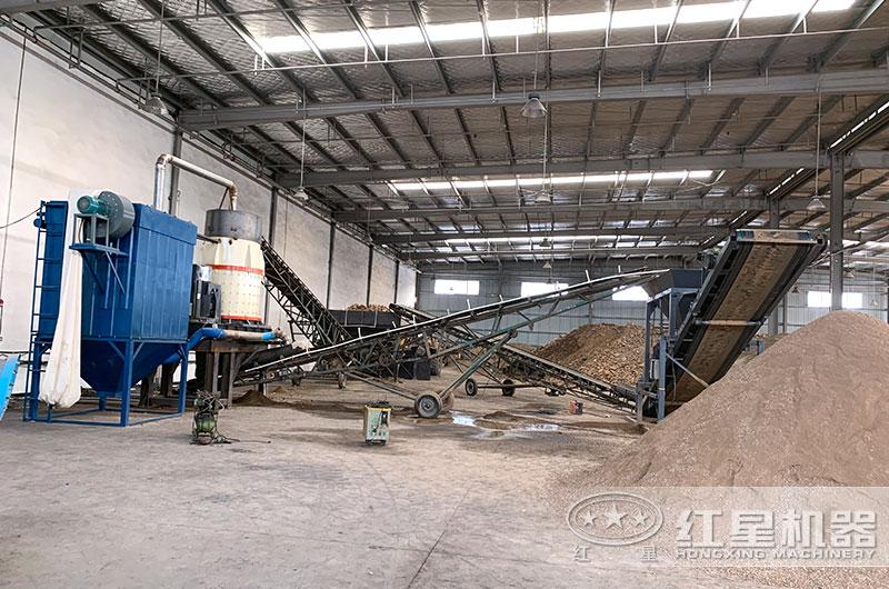 山东客户河卵石制砂生产线图片