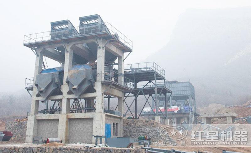 楼式制砂系统生产现场
