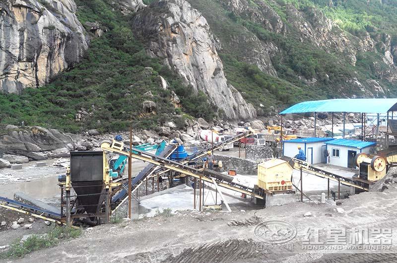 山西客户时产300吨尾矿砂生产线