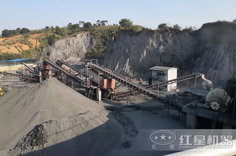 山东客户时产300吨尾矿砂生产线