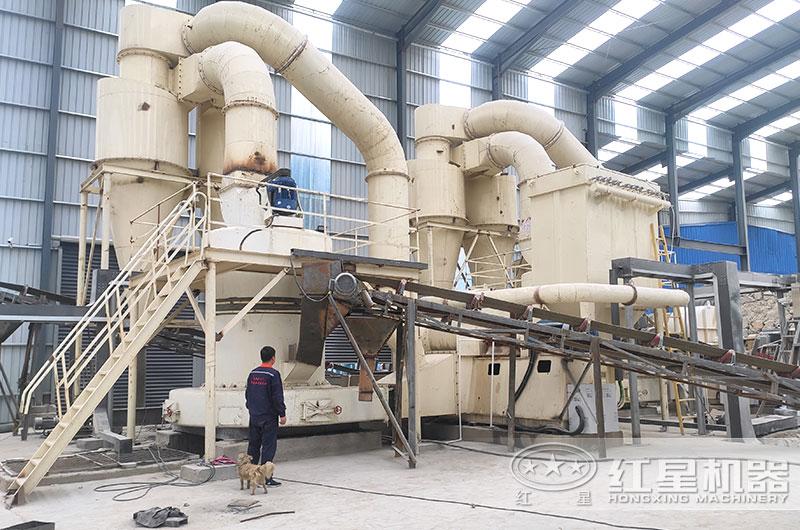 石灰石磨粉生产线现场