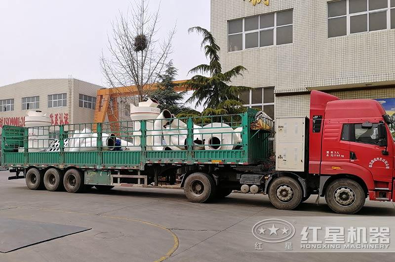 石灰石磨粉生产线设备发货中