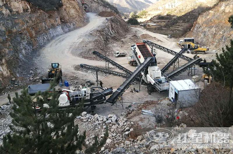 四川客户隧道废料筛分和利用项目