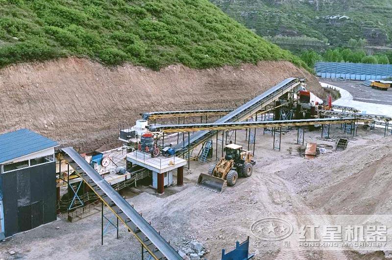 钢渣制砂生产线实拍图