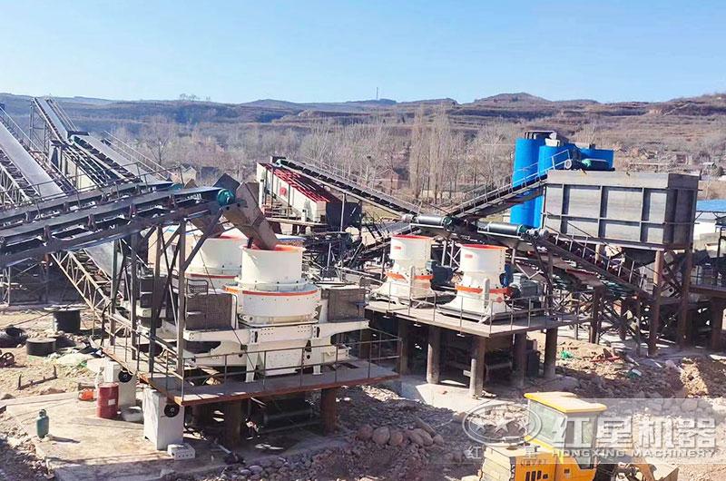 大型石料制砂生产线作业现场图
