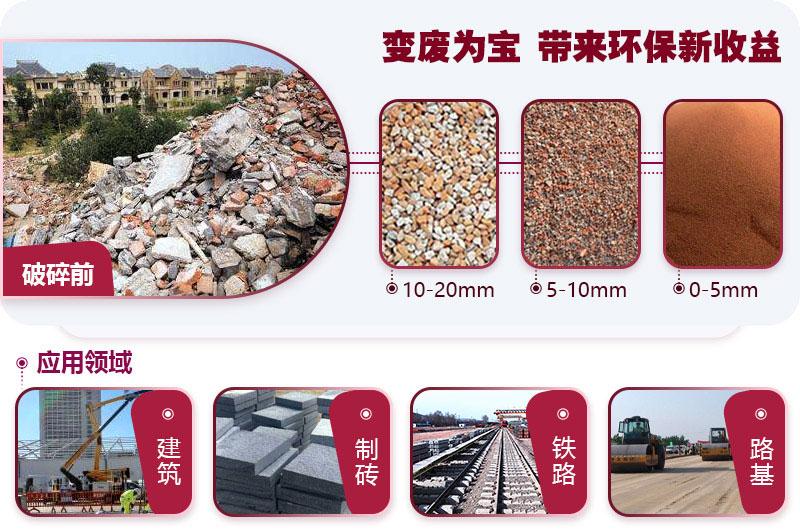 建筑垃圾粉碎用途广泛