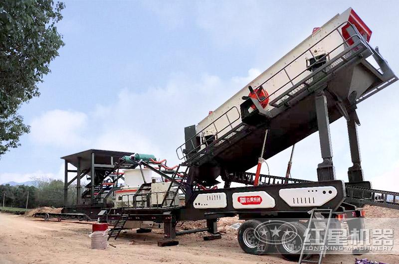 河北时产100吨移动制砂生产线