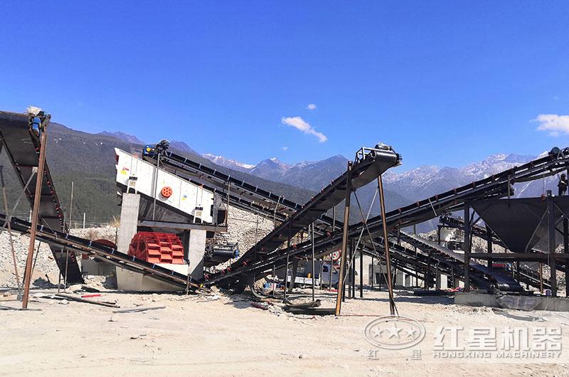 安徽客户石粉洗砂机生产现场