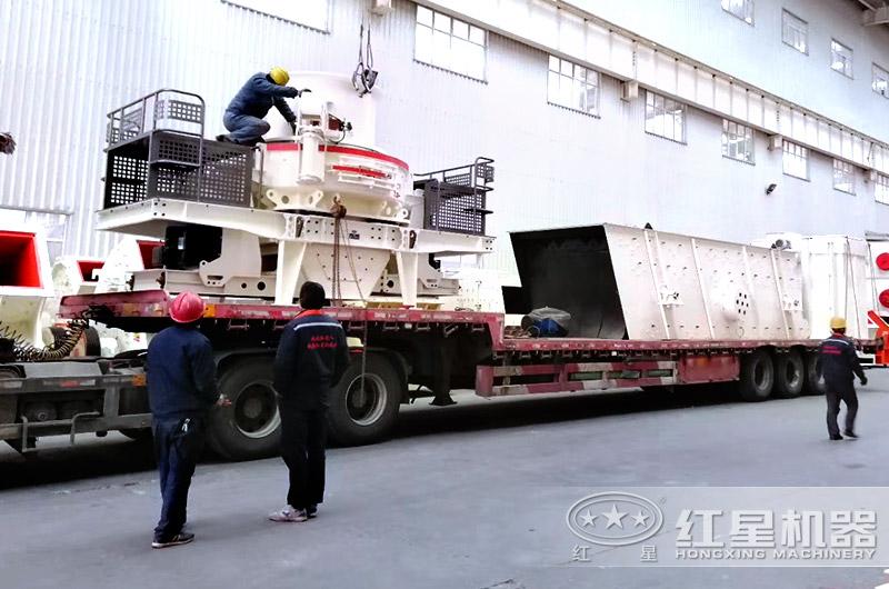 鹅卵石碎沙机专车运输,免费安装