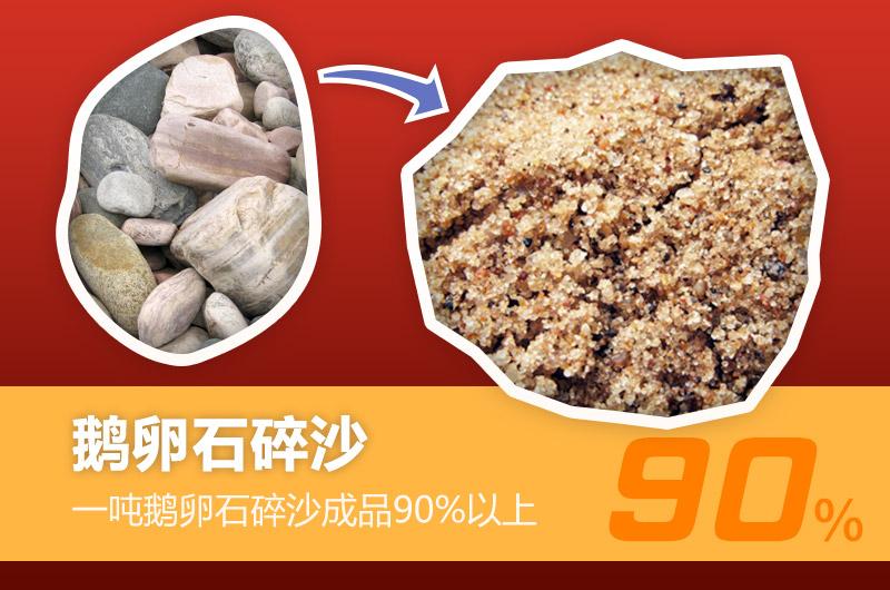 一方鹅卵石碎沙90%以上