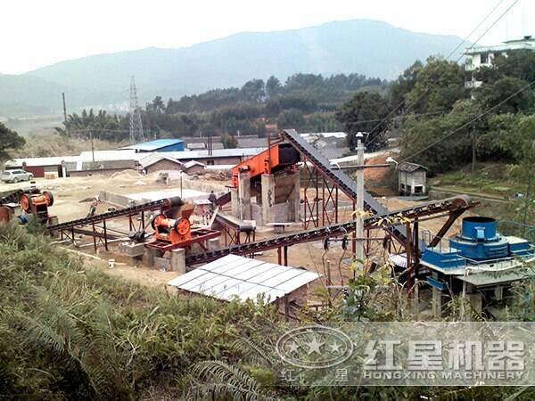 时产700-800吨花岗岩生产线