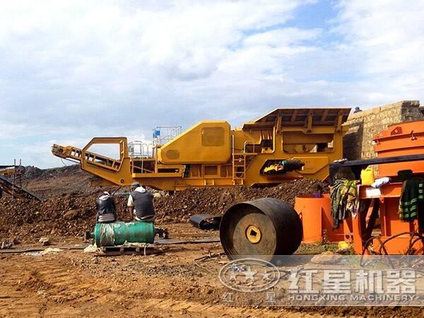尼日利亚花岗岩制砂项目现场