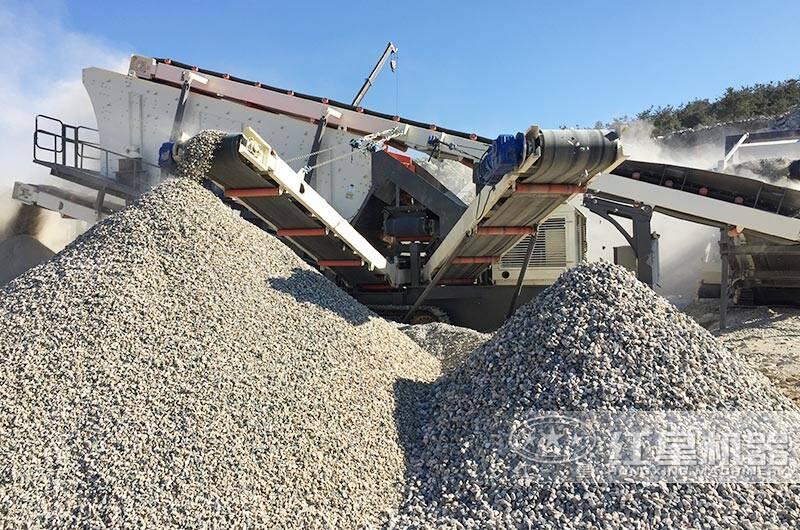 山东滕州花岗岩破碎生产线现场