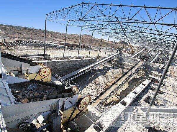 安徽合肥100吨机制砂石料生产线现场