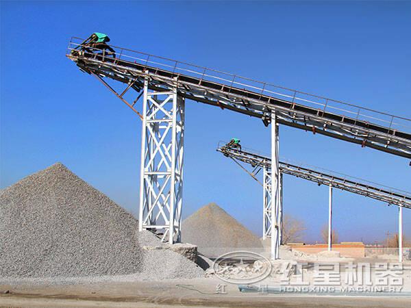新型砂石料生产线现场