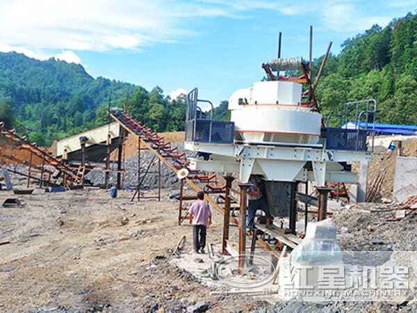 红星新型环保制砂生产线现场