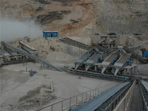 青岛二手石料生产线现场