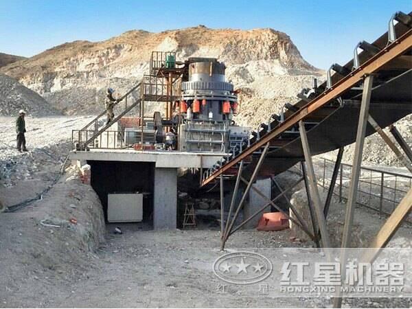 浙江新余花岗岩破碎生产线现场1