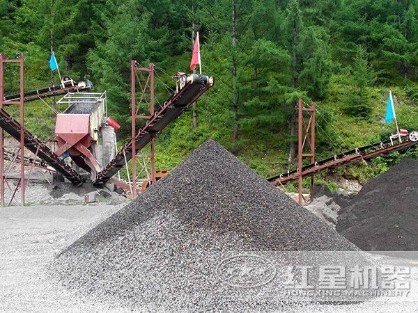 专业型制砂机绿色生产现场
