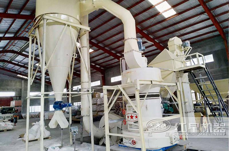 硅矿磨粉加工生产线现场