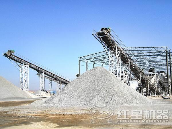 湖北随州100吨机制砂石料生产线现场