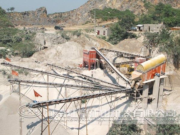 河南红星机器白垩制砂生产线价格