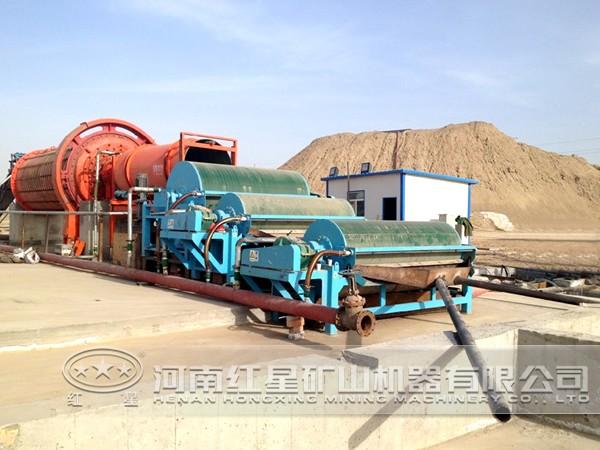 滚筒式尾矿回收磁选机技术