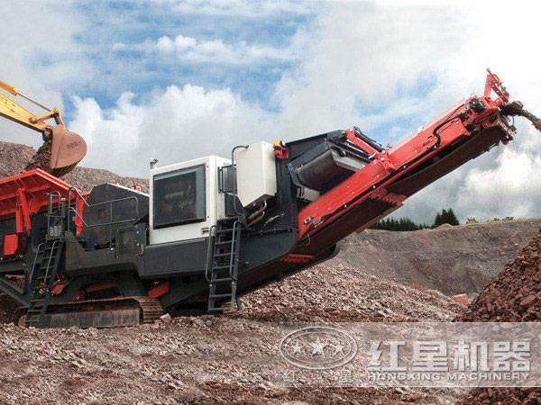 建筑垃圾破碎机——移动破碎站