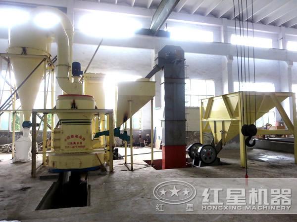 重晶石磨粉生产线流程