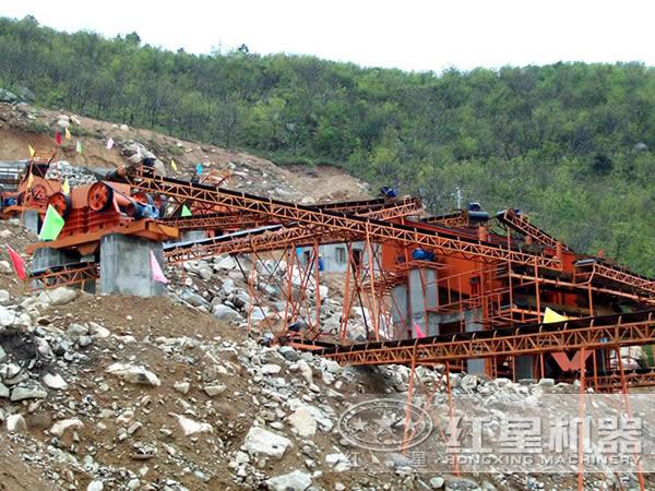 日产2000方固定式建筑垃圾再生石料生产线工艺配置