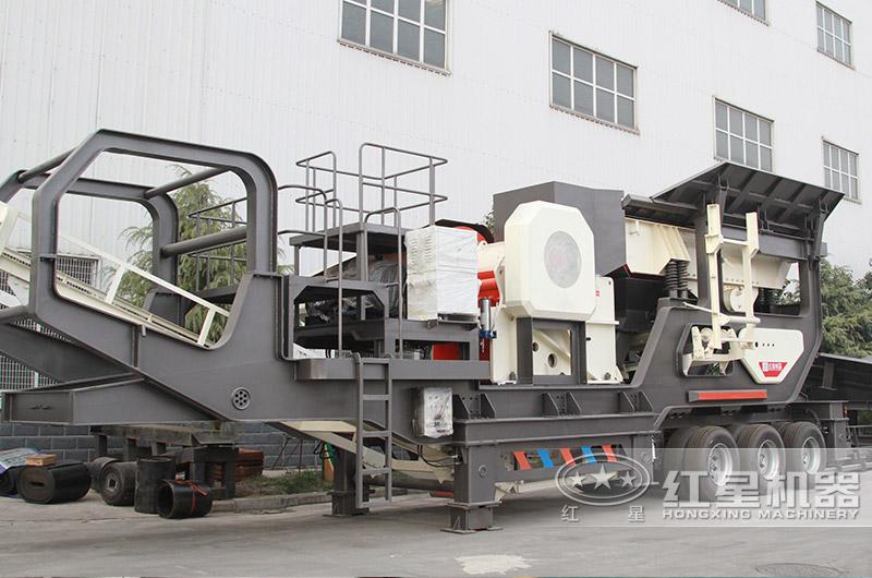 时产500吨可移动砸石机