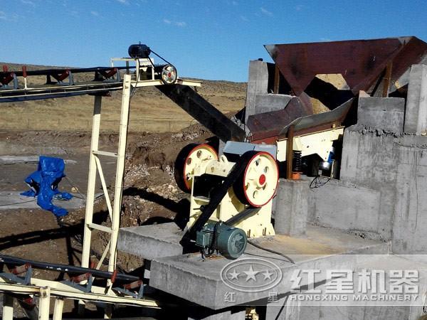 埃塞比亚大理石破碎生产线现场1