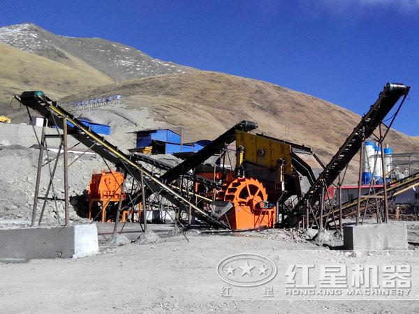 四川河卵石制砂生产线