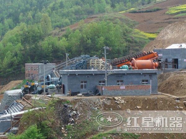 新型选矿生产线处理尾矿现场