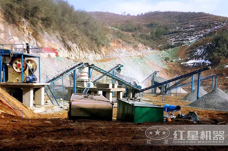 砂石生产线作业现场
