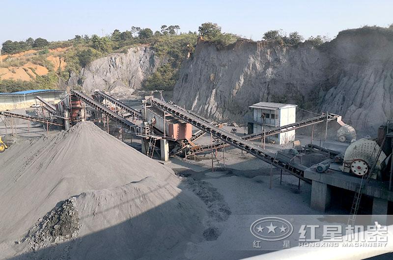 山西客户煤矸石生产现场