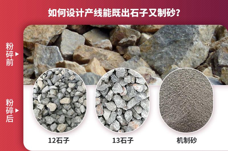 如何设计产线出石子又制砂